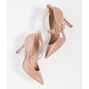 Sam Edelman Hinda Nude Patent Pointed Pump Heels